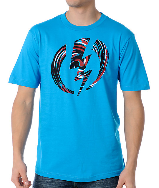 Electric Jackson Turquoise Mens T-Shirt