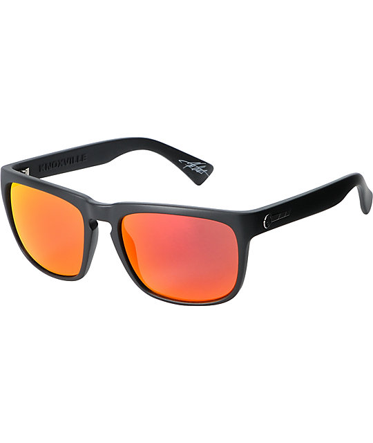 Electric Sunglasses Knoxville  electric knoxville matte black fire chrome sunglasses at zumiez