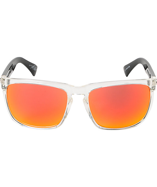 Electric Knoxville XL Black & Fire Chrome Sunglasses