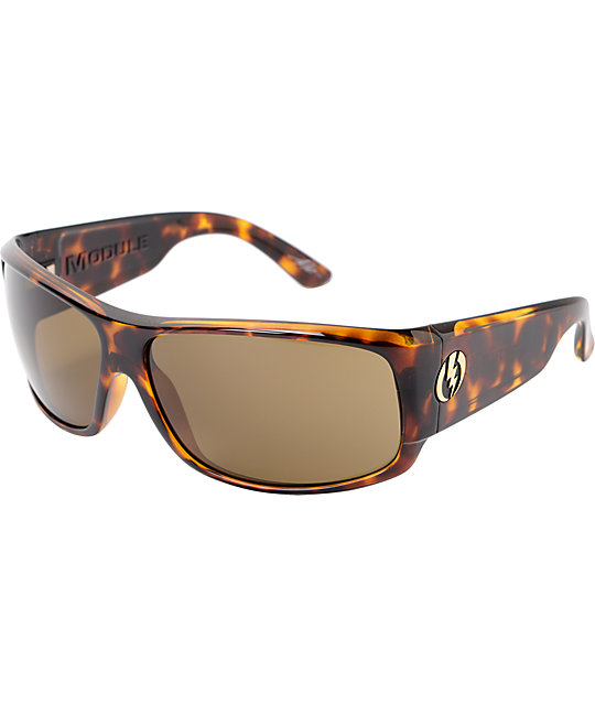 Electric Module Tortoise Shell & Bronze Sunglasses