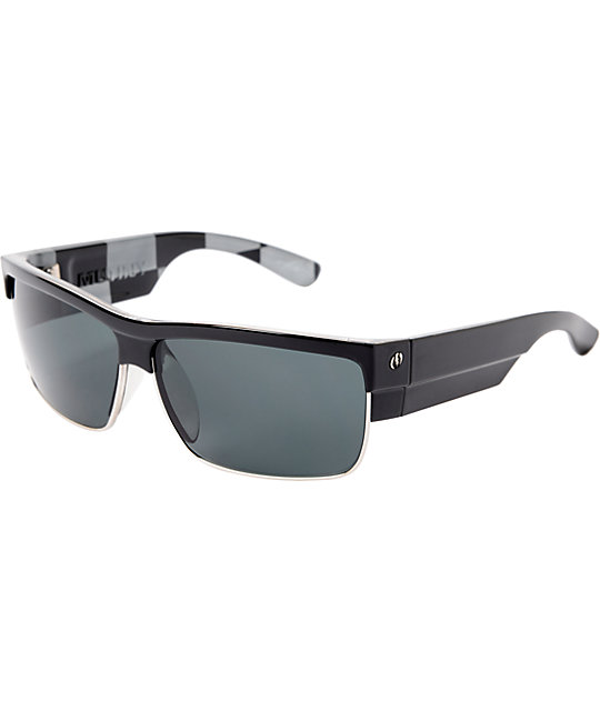 Electric Mutiny Black Check Sunglasses