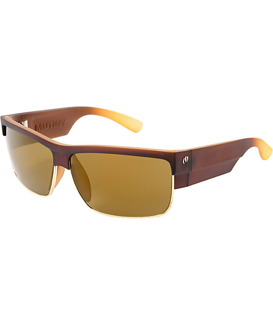 Electric Mutiny Saddle Brown Sunglasses
