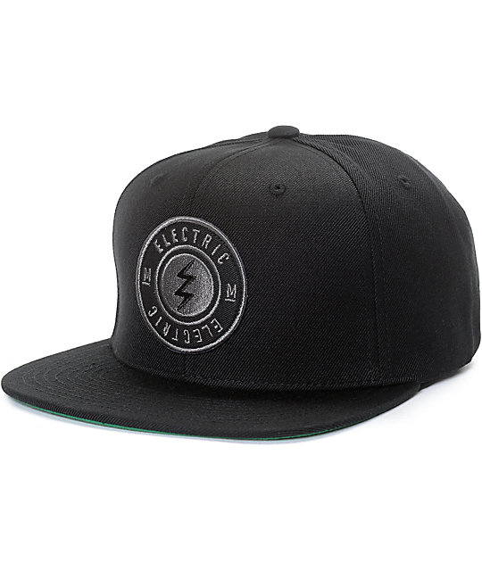 Electric Peninsula Black Snapback Hat