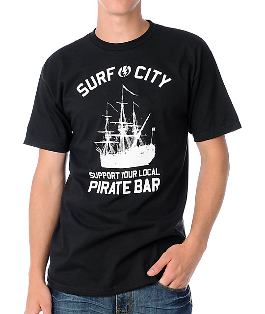 Electric Pirate Bar Black T-Shirt