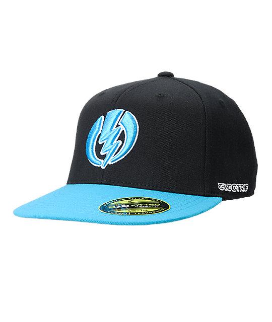 Electric Pro Volt Black & Cyan Flexfit Hat
