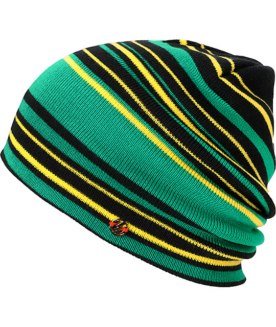 Electric Rain City Black & Green Beanie