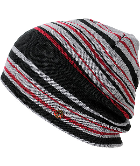 Electric Rain City Black & Red Beanie