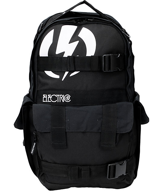 Electric Recoil Black Skate Backpack