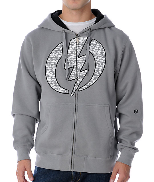 Electric Sharpscript Grey Hoodie