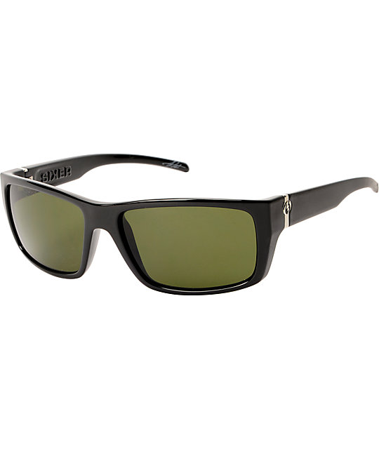 Electric Sixer Gloss Black & Grey Sunglasses