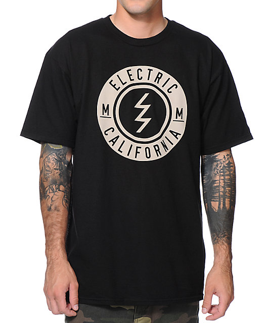 Electric Slant Black T-Shirt