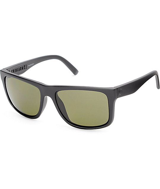 Grey Polarized Sunglasses  electric swingarm xl matte black grey polarized sunglasses at
