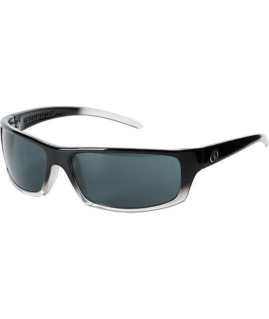 Electric Technician Black Clear Fade & Grey Sunglasses