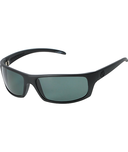 Electric Technician Matte Black & Grey Polarized Sunglasses