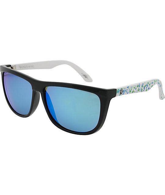 Electric Tonette Blue & Green Splatter Chrome Sunglasses