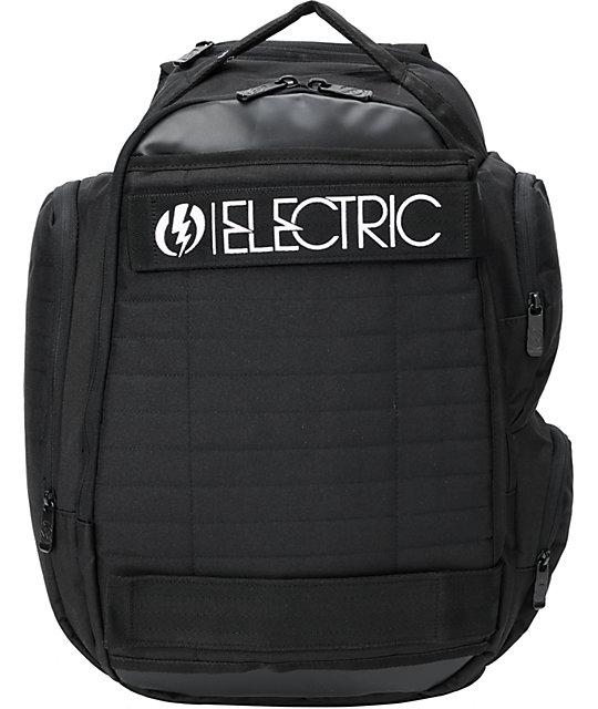 Electric Transmission Black Skate Backpack