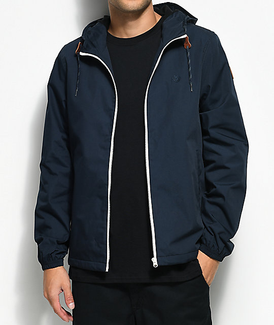 Element Alder Full Zip Navy Jacket
