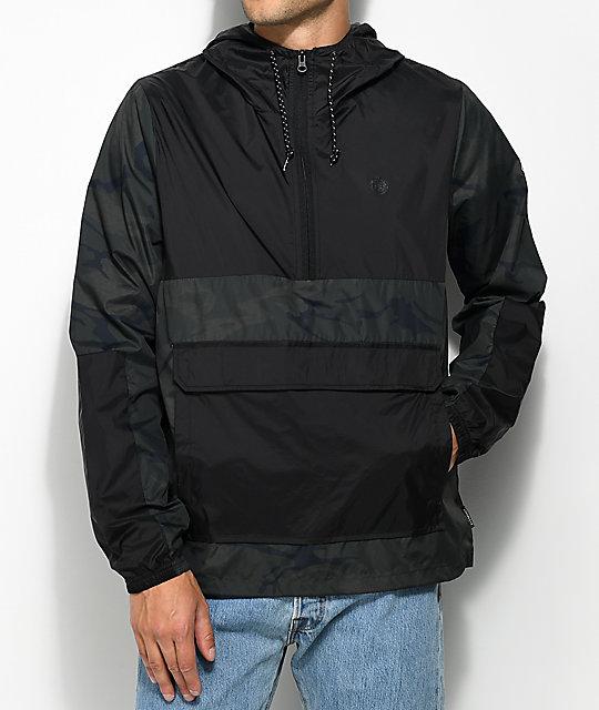 Element Alder Pop Travel Well Camo & Black Anorak Jacket