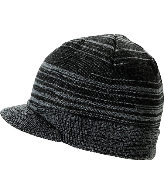 Element Arapahoe Black, Grey & Rasta Visor Beanie