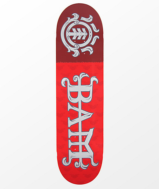 "Element Bam Margera 8.25"" Red Skateboard Deck"