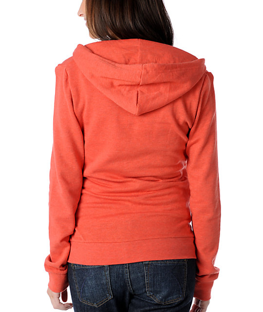 Element Bliss Red Zip Up Hoodie