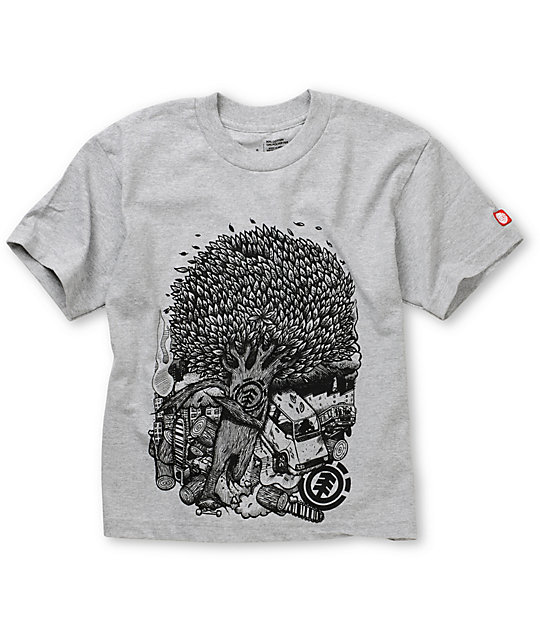Element Boys Break Grey T-Shirt