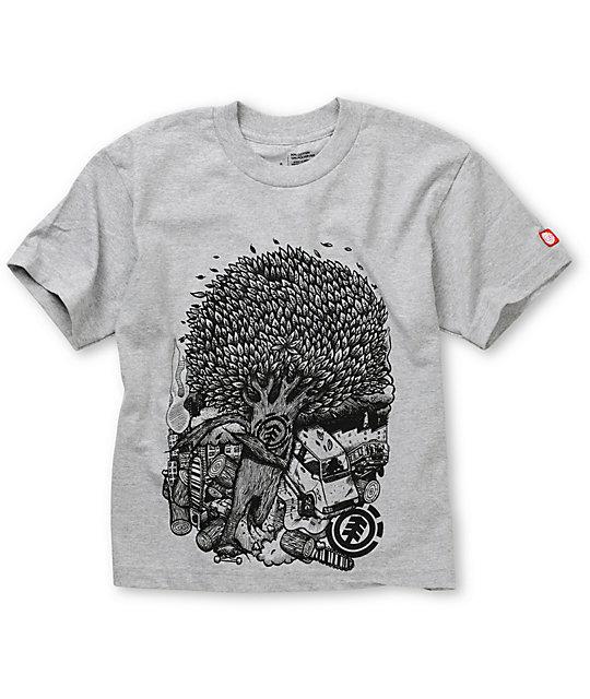 Element Boys Break Grey T-Shirt