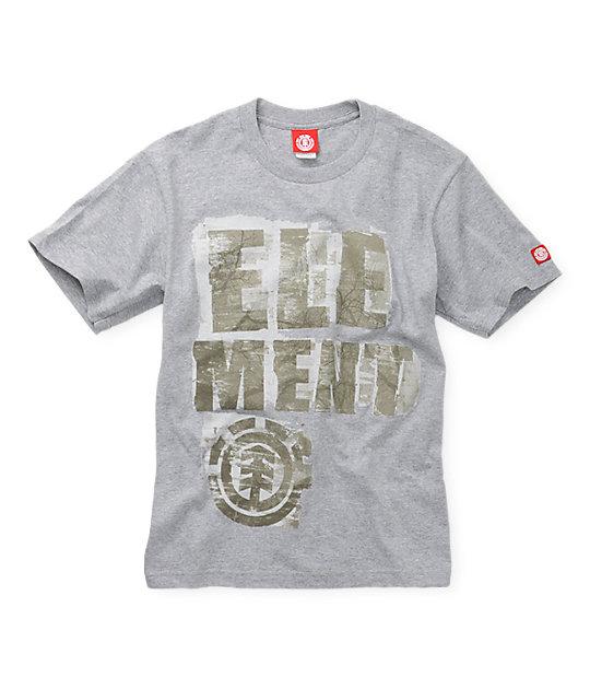 Element Boys Buffer Grey T-Shirt