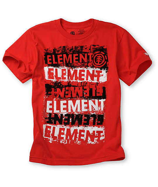 Element Boys Crown Hour Red T-Shirt