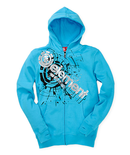 Element Boys Cutout Aqua Hoodie