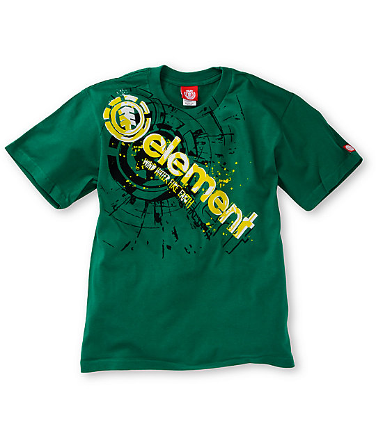 Element Boys Cutout Kelly Green T-Shirt