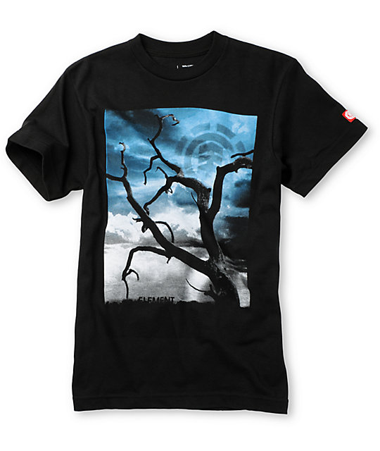 Element Boys Enigma Black T-Shirt