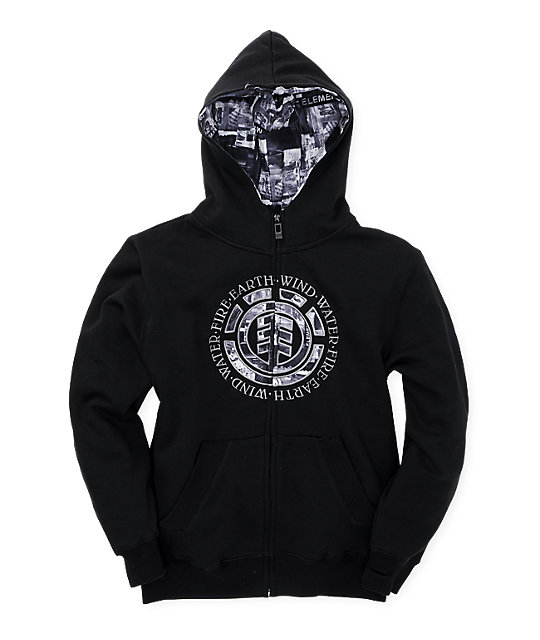 Element Boys Fenton Black Hoodie