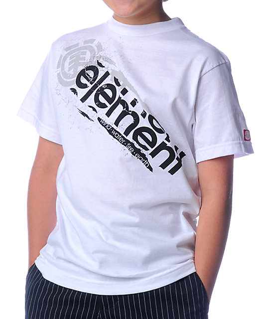 Element Boys Freeze White T-Shirt