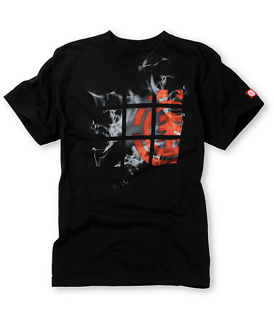 Element Boys Hazy Black T-Shirt