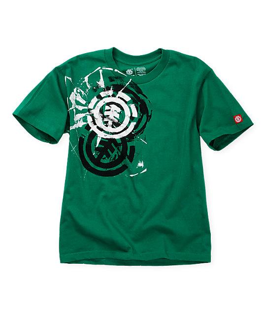 Element Boys Head On Kelly Green T-Shirt