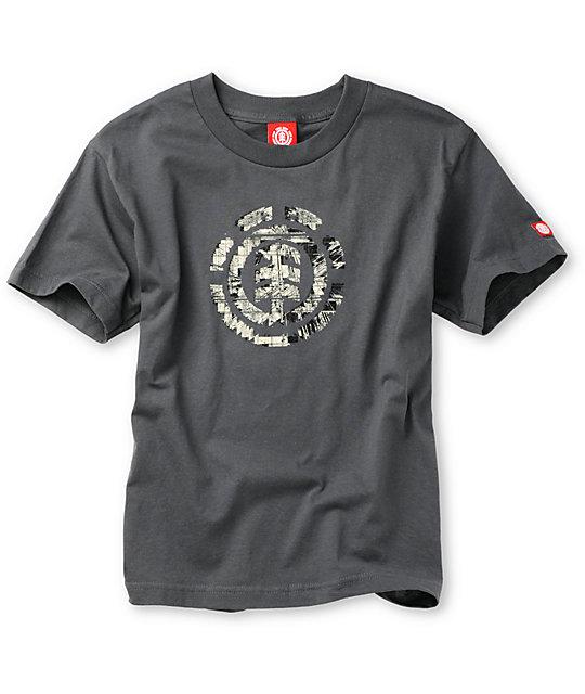 Element Boys Intelect Grey T-Shirt