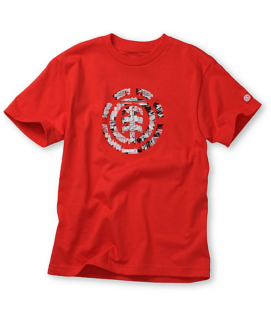 Element Boys Intelect Red T-Shirt