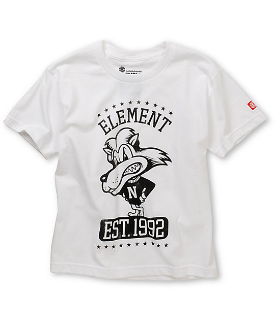 Element Boys Lion White T-Shirt