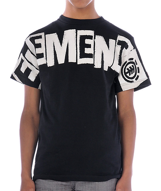 Element Boys Punch Black T-Shirt
