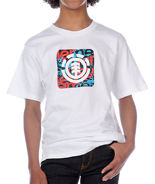 Element Boys Quadrant White T-Shirt