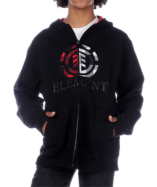 Element Boys Rockefeller 2 Black Hoodie