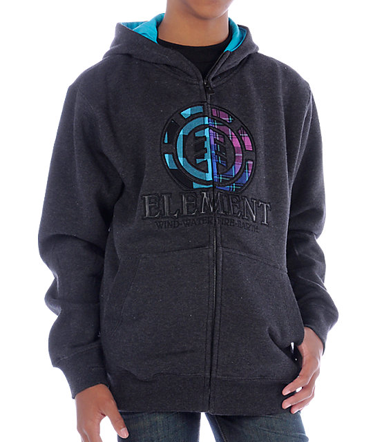 Element Boys Rockerfeller 2 Grey Hoodie