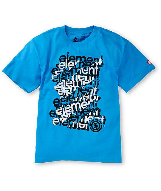Element Boys Scaffold Cyan T-Shirt