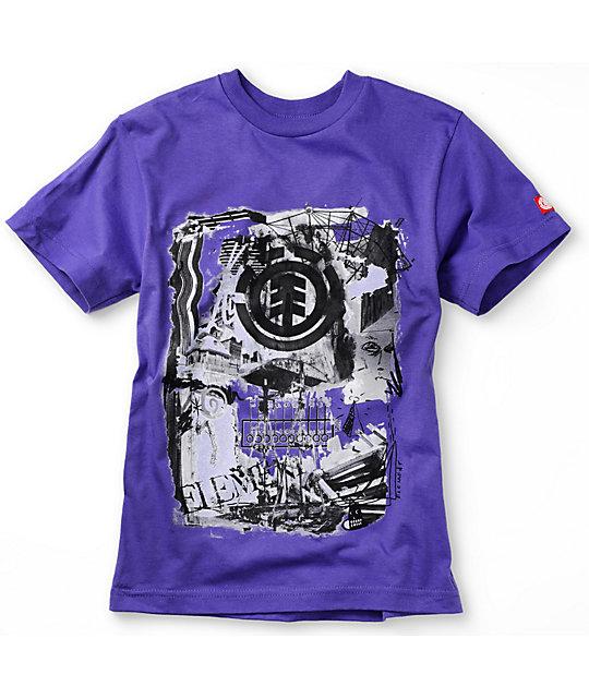 Element Boys Scrap Heap Purple T-Shirt