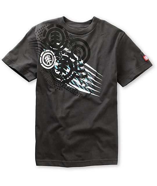 Element Boys Shoryuken Charcoal T-Shirt