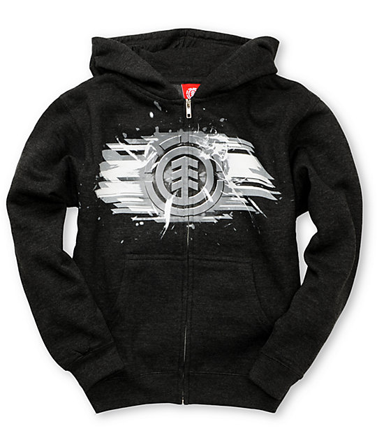 Element Boys Shred Grey Hoodie