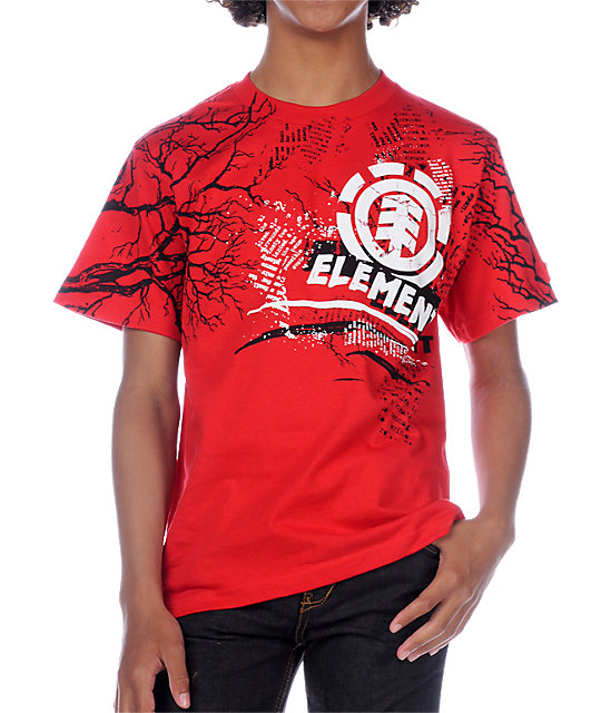 Element Boys Tragic Red T-Shirt