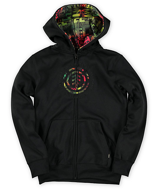 Element Boys Transition Charcoal Zip Up Hoodie