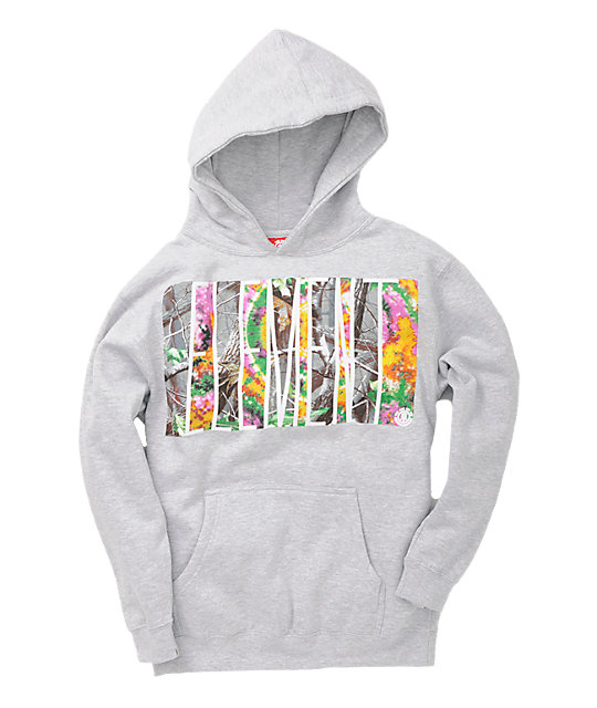 Element Boys Tree Grey Hoodie